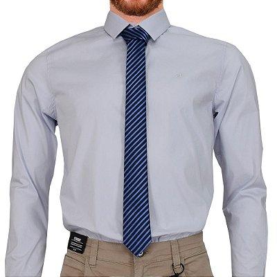 Gravata Slim - Azul Marinho / Listrado - Schiafine