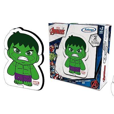 Quebra-Cabeça Vertical - Hulk - 3 Peças - Xalingo