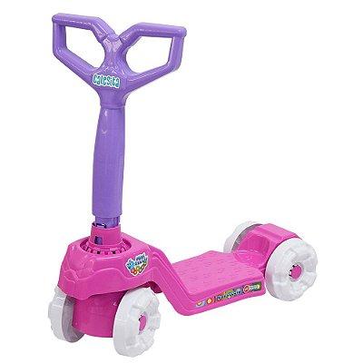 Patinete Mini Scooty - Rosa / Branco - Calesita