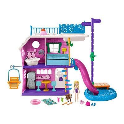Polly Pocket - Casa do Lago Da Polly - Mattel