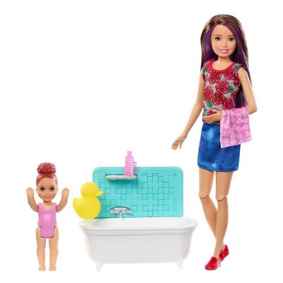 Boneca Barbie Skipper Babysitters - Hora do Banho - Mattel