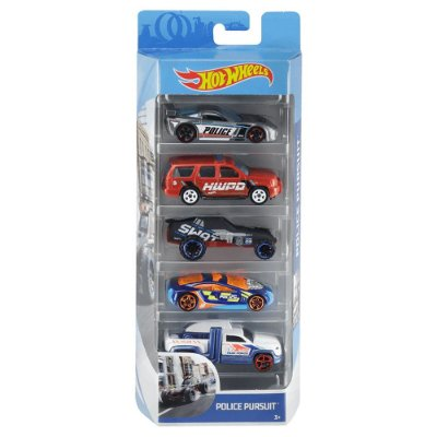 Kit Hot Wheels 5 Unidades - Police Pursuit - Mattel
