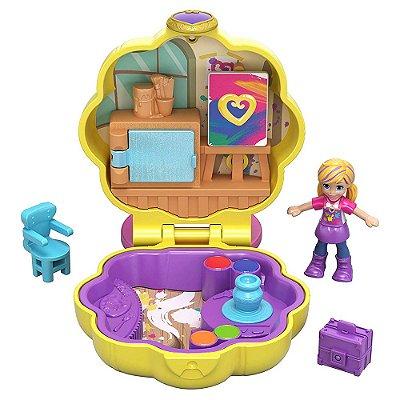 Polly Pocket Estojo Pequenos Lugares - Ateliê - Mattel