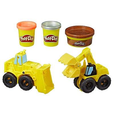 Conjunto Play-Doh Wheels - Escavadeira e Carregadeira - Hasbro