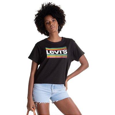 Camiseta Feminina Originals Arco-Íris - Preto - Levi's