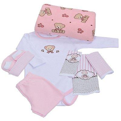 Baby Kit - Ursinho Rosa - 8 Peças - Colibri
