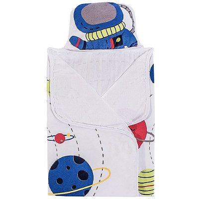 Toalha de Banho com Capuz - Astronauta - Colibri