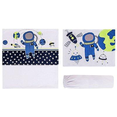 Jogo de Lençol para Berço - Astronauta - 3 peças - Colibri