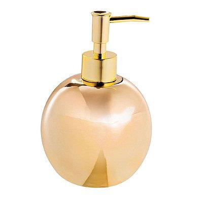 Porta Sabonete Líquido em cerâmica - Dourado - Mart
