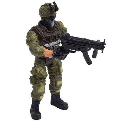 Boneco Comando Militar - Com Máscara - Buba