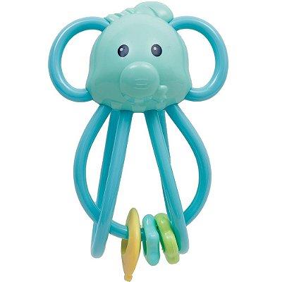 Elefantinho Chocalho Divertido - Azul - Buba