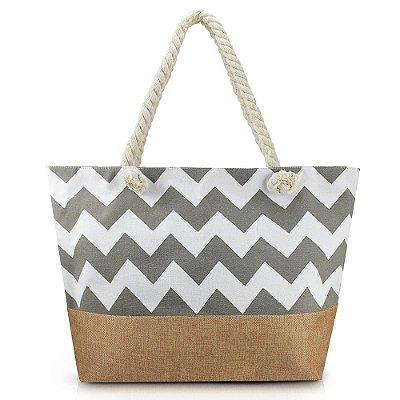 Bolsa de Praia - Cinza - Jacki Design