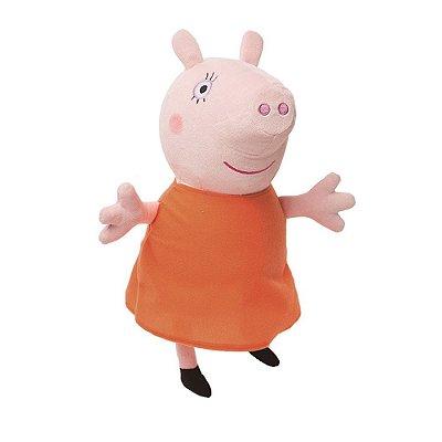 Pelúcia Beanie Buddies Ty Peppa Pig M - Mummy - DTC