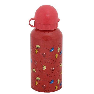 Garrafa Infantil Carrinhos 400 ml - Vermelho - Interponte
