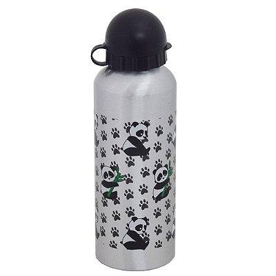 Garrafa de Alumínio Pandas 500 ml - Prata - Interponte