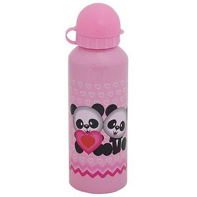 Garrafa de Alumínio Pandas 500 ml - Rosa - Interponte