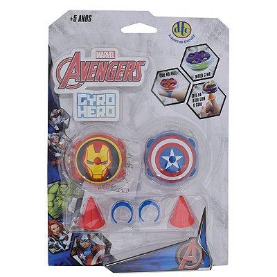 Gyro Hero Marvel Avengers - Homem de Ferro e Capitão América - DTC