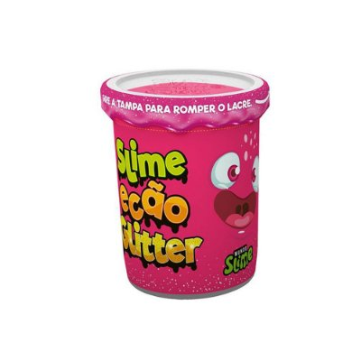 Slime Ecão Glitter - 110g - Rosa - DTC