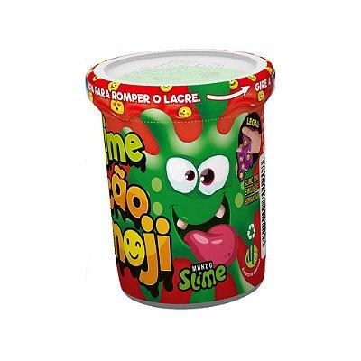 Slime Ecão Emoji - Verde - 110G - DTC