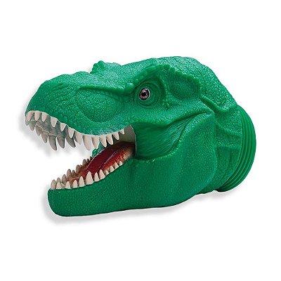 Pote Dino Word Cabeça T-Rex - Verde - 6 Miniaturas - Cotiplás