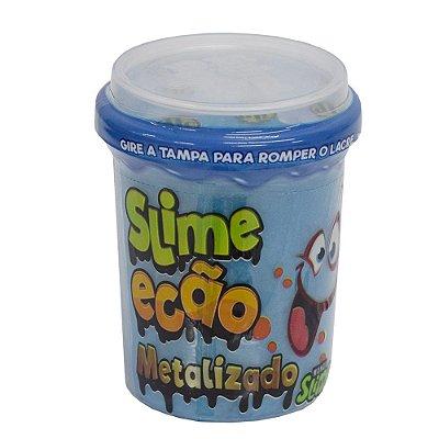 Slime Ecão Metalizado - 110g - Azul - DTC