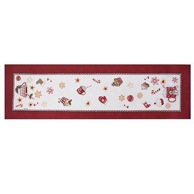 Trilho de Mesa Café do Noel - 30 x 100 cm - Karsten Natal