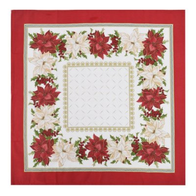Toalha de Mesa 78 x 78 cm - Estrela do Natal - Karsten Natal