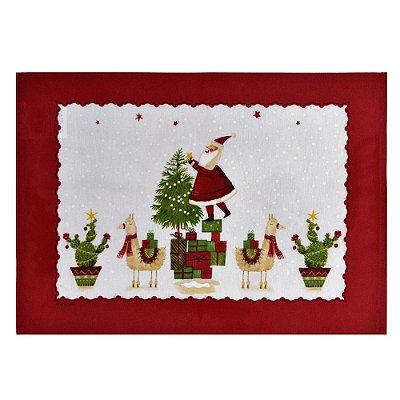 Lugar Americano Merry Christmas - 33 x 45cm - Karsten Natal