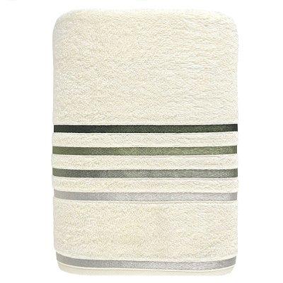 Toalha de Banho Gigante Lumina - Branco e Verde - Karsten