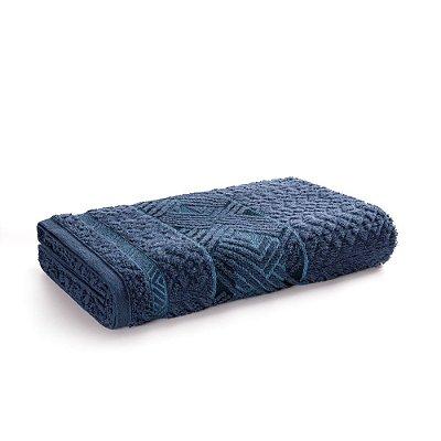 Toalha de Rosto Fio Penteado Norman - Marinho/Azul - Karsten