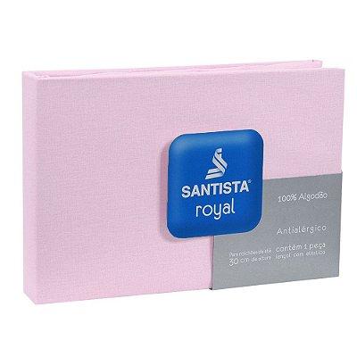 Lençol de Casal Royal Liso - Rosa - Santista