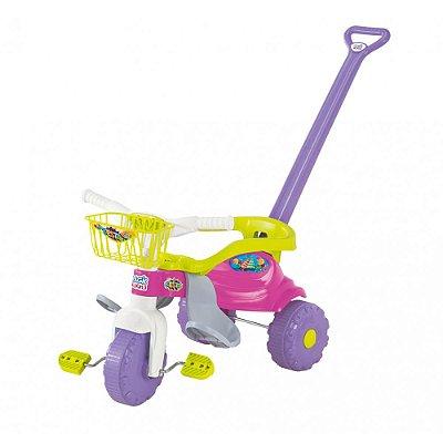 Triciclo Infantil Tico Tico Festa - Lilás e Verde - Magic Toys