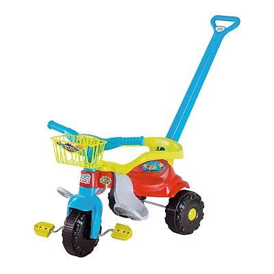 Triciclo Infantil Tico Tico Festa - Azul e Verde - Magic Toys