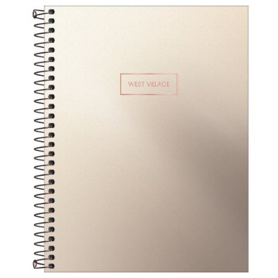 Caderno Colegial West Village Metalizado - Cobre - 80 Folhas - Tilibra