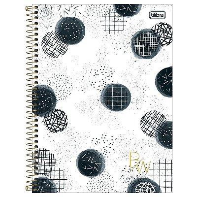 Caderno B&W - Círculos - 160 Folhas - Tilibra