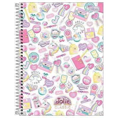Caderno Jolie Classic Branco - 160 Folhas - Tilibra