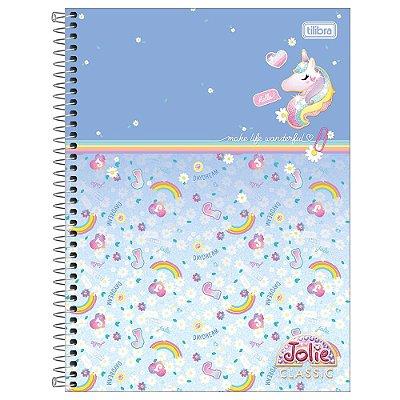 Caderno Jolie Classic Azul - 160 Folhas - Tilibra