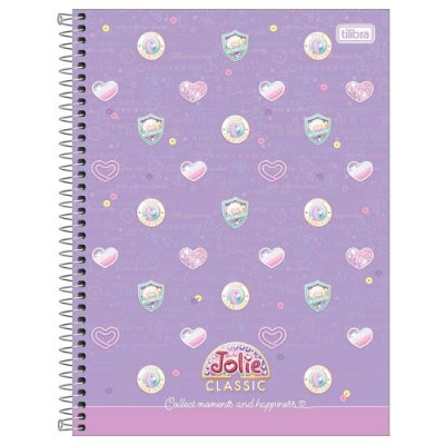 Caderno Jolie Classic Lilás - 160 Folhas - Tilibra