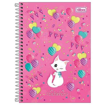 Caderno Bichinhos Gatinho - 1 Matéria - Tilibra