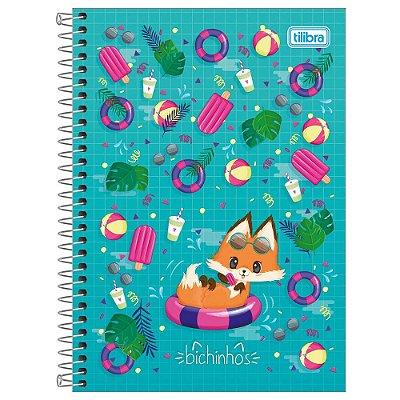 Caderno Bichinhos Raposa - 1 Matéria - Tilibra
