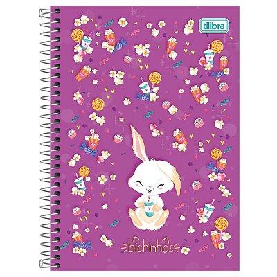 Caderno Bichinhos Coelho - 1 Matéria - Tilibra