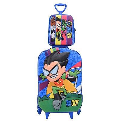 Kit Mochila Infantil 3D + Lancheira - Robin Teen Titans Go! - Diplomata
