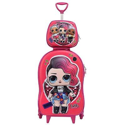 Kit Mochila Infantil 3D + Lancheira - LOL Rocker - Diplomata