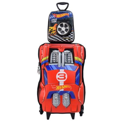 Kit Mochila Infantil 3D + Lancheira - Hot wheels Night Shifter - Diplomata
