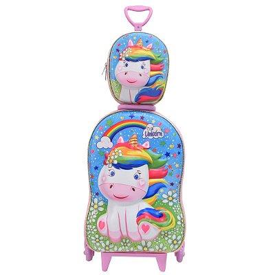 Kit Mochila Infantil 3D + Lancheira - Cute Unicorn - Diplomata