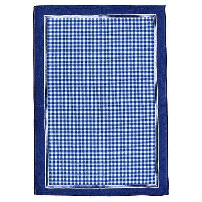 Pano de Copa Felpudo Quadriculado - Azul - Döhler