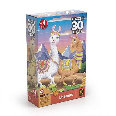 Quebra Cabeça Lhamas - 30 peças - Grow
