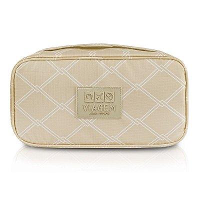Bolsa Porta Lingerie Detalhado - Bege - Jacki Design