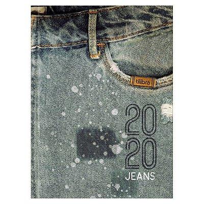 Agenda Diária Costurada Jeans 2020 - Estonado - Tilibra