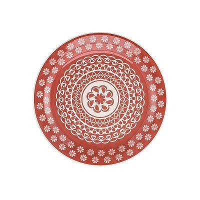 Prato de Sobremesa Floreal Renda 20 cm - Oxford